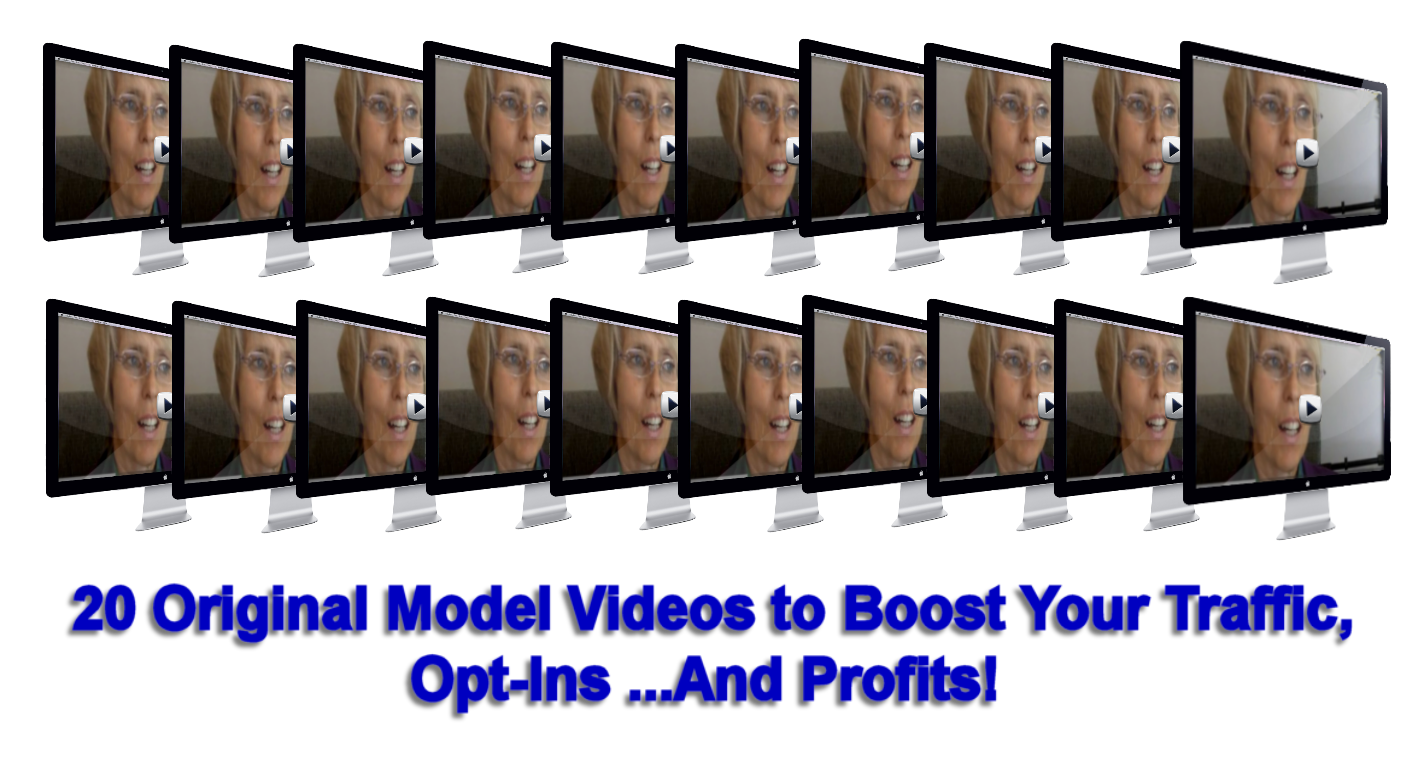 How much traffic... leads... and clients can you imagine getting from these 20 original model videos?